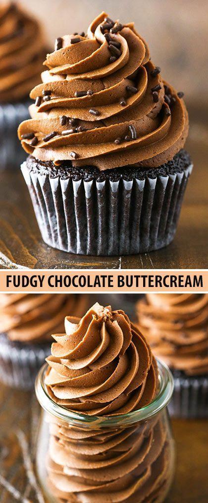 Diese schokoladenbraune Buttercreme ist die perfekte …