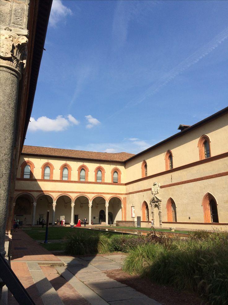Castello Sforzesco, cortile interno