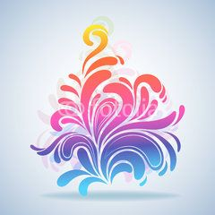 Abstract colorful splash design element