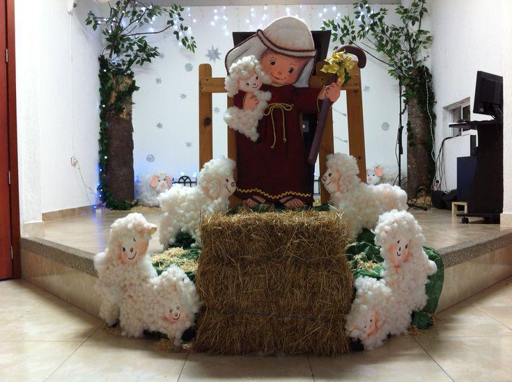 Decoracion de navidad en la iglesia vida por vida - Decoracion con reciclaje ...