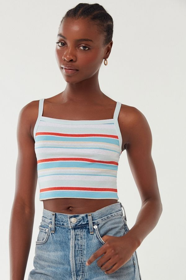 eb10a941087338 Urban Outfitters Step Sister Ribbed Cropped Cami