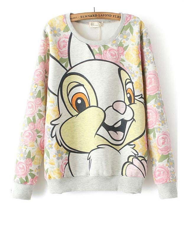 College sweatshirts smart pullover animal pattern tops BD-X6504
