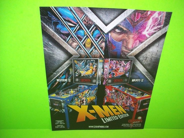 Stern X-MEN LE LIMITED Edition 2012 Original Flipper Pinball Machine Flyer Rare #Stern #X-Men #XMen #PinballFlyer #Pinball @PinballMachineFlyers
