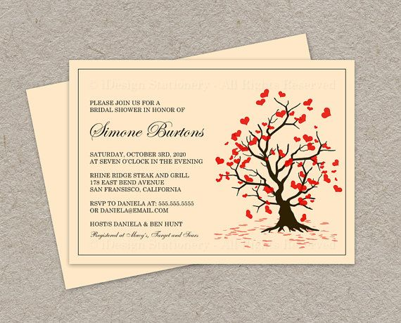 fall in love bridal shower invitation by on etsy wedding