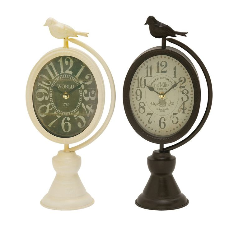 2 Chic Metal Table Clocks