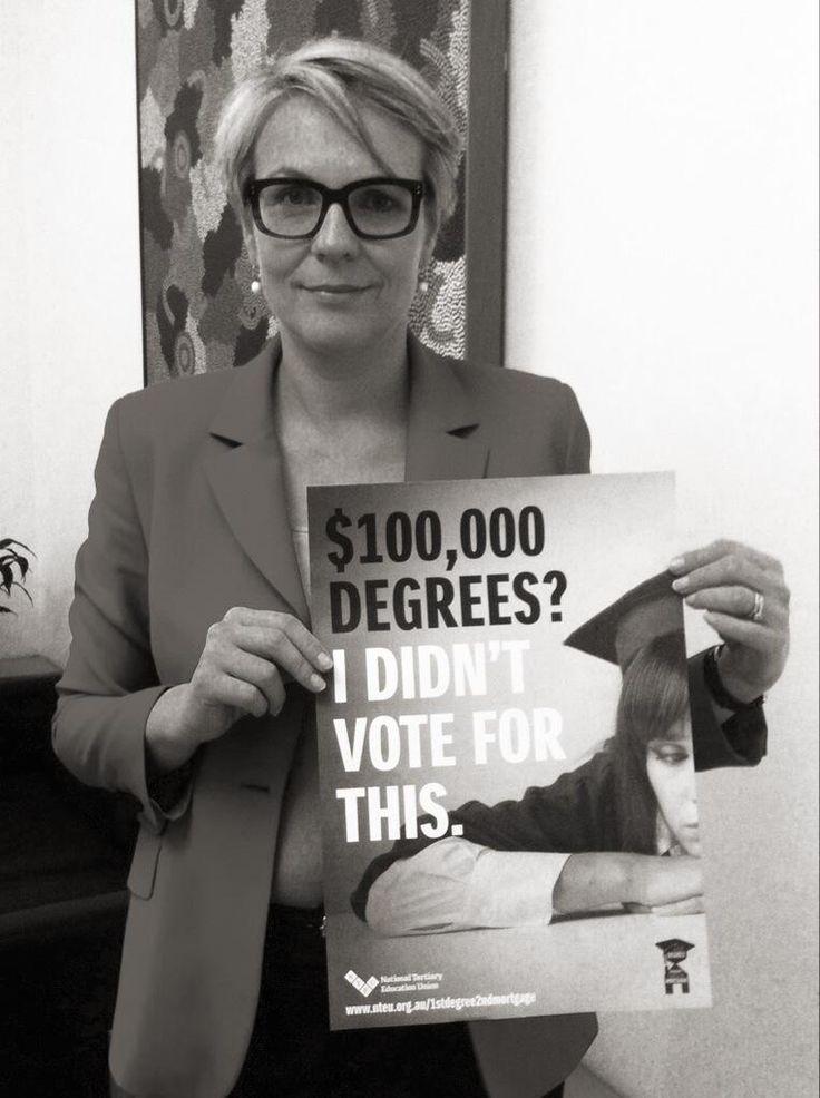RT if you agree: no $100 000 degrees!  #auspol #1stDegree2ndMortgage pic.twitter.com/hRzJlRcZJh