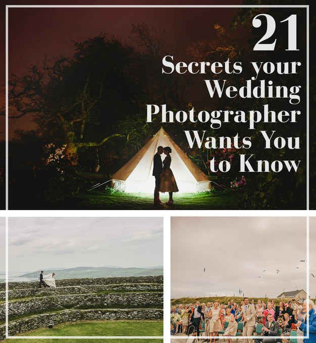 21 Secrets Your Wedding Photographer Wants You To Know // so good.