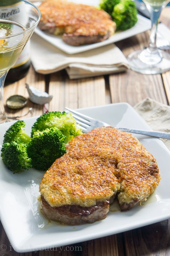 Parmesan Crusted Steaks - I Wash You Dry