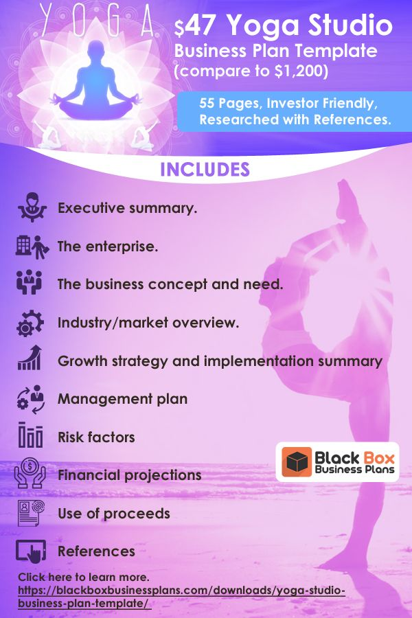 Yoga Studio Business Plan Template