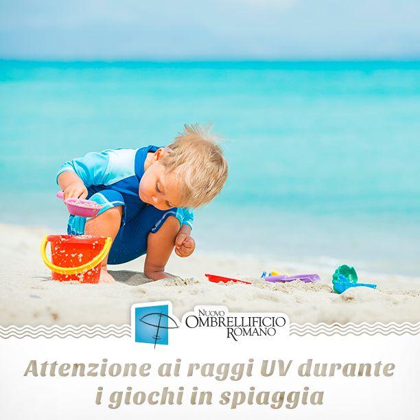 Care famiglie, fate attenzione al tempo di esposizione al sole dei vostri figli durante i giochi in spiaggia. Molta crema protettiva e solo sotto l'ombrellone nelle ore più calde!☀️  www.ombrellificioromano.com  #nuovoombrellificioromano #staytuned #estate2016 #ombrelloni #lettini #spiaggia #sdraio #mare #caldo #estate #configuratore #crealatuaspiaggia #progettalaspiaggia #protezione #arredospiaggia #cremasolare #raggiUV #scottature #cremesolari