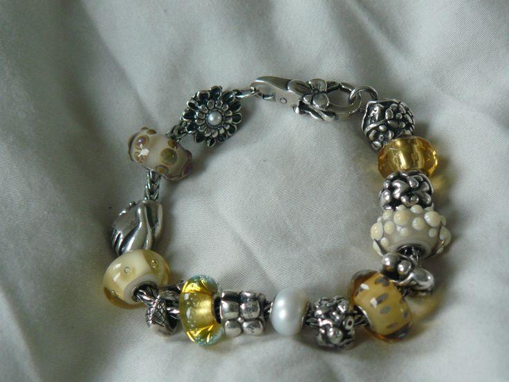 I love it! Goudgele armband van trollbeads!