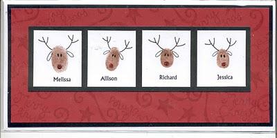 family reindeer thumbprints
