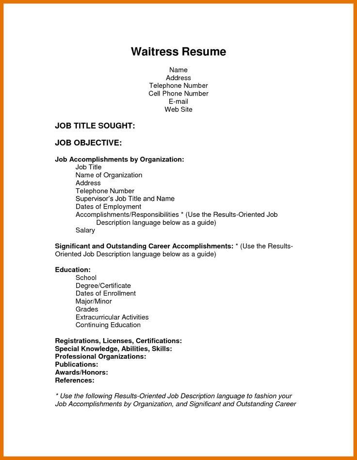 waiter job description resume lovely waiter resume writing