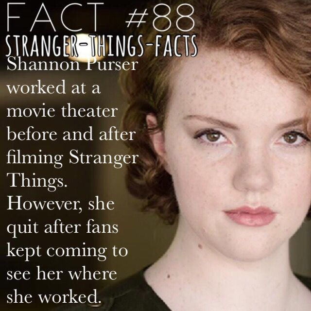 Shannon Purser, stranger Things Facts