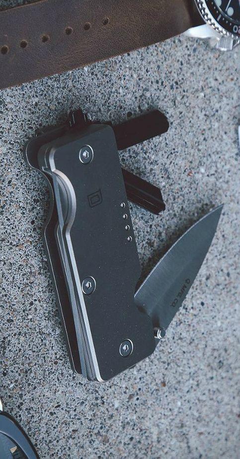 Quiet Carry MINI Q EDC Everyday Carry Pocket  KNIFE + KEY Organizer in Titanium