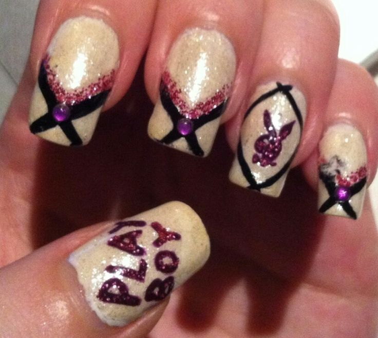 Playboy nail designs gallery nail art and nail design ideas the 21 best images about playboy nail styles i like on pinterest acrylic nail designs prinsesfo prinsesfo Image collections