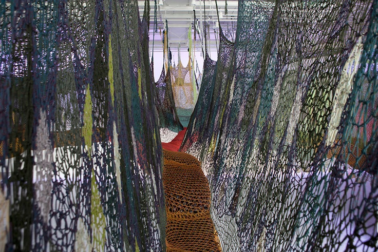 A Massive Maze Of Nets By Ernesto Neto Puts Spider-Man's Webs To Shame