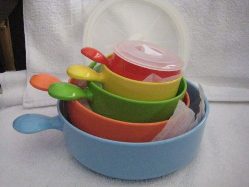 Avon Colorful Set of 5 Handled Food Storage Containers   eBay