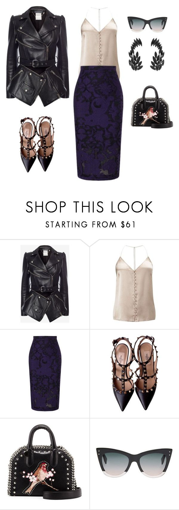 """""""Untitled #303"""" by mary-en ❤ liked on Polyvore featuring Alexander McQueen, Miss Selfridge, Roland Mouret, Valentino, STELLA McCARTNEY, Fendi, Yves Saint Laurent and cocktailin"""