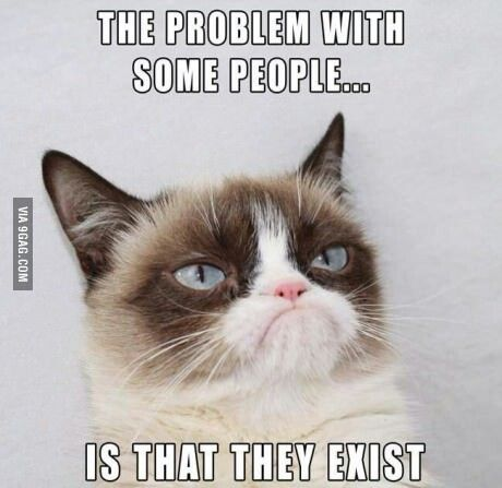 The problem with some people...is that they exist.