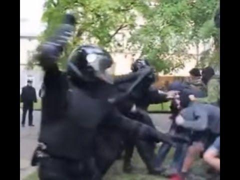 Львовские полицейские шикарно отмудохали бандеровцев на 9 мая 2016