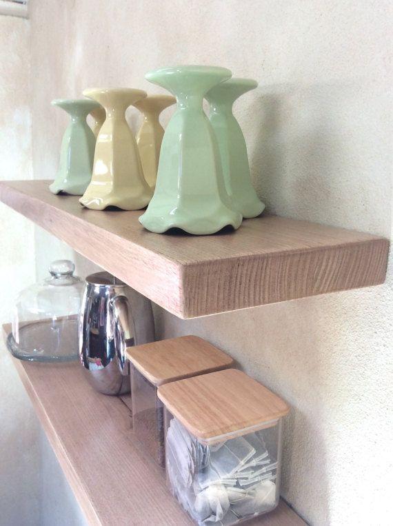Floating Shelves Wooden Perth Australian Oak by GoldenWhistlerWood