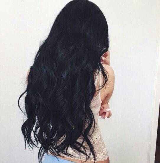 Black curly hair and light fair skin, wavy black hair