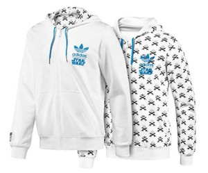 ADIDAS STAR WARS STORMTROOPER REVERSIBLE HOODIE JACKET