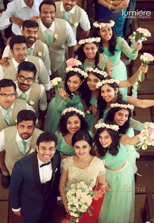Christian wedding kerala Bridal saree