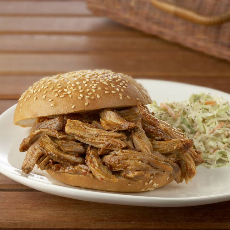 Tender pork is slow cooked with Grill Mates BBQ seasoning and an easy homemade sauce for a tangy weeknight dinner.
