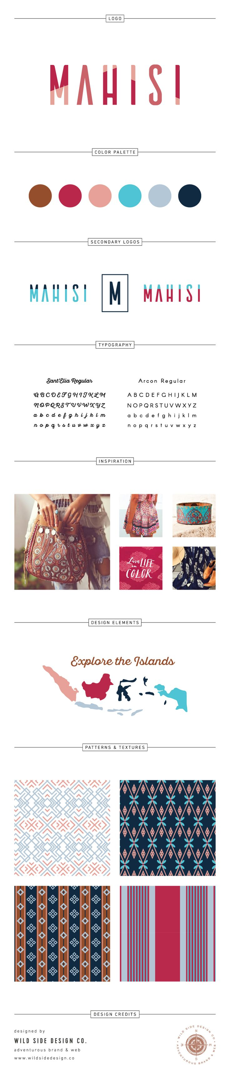 Brand Launch :: Brand Style Board :: Boho Fair Trade Textiles Branding :: Mahisi Brand Design :: #branding www.wildsidedesign.co