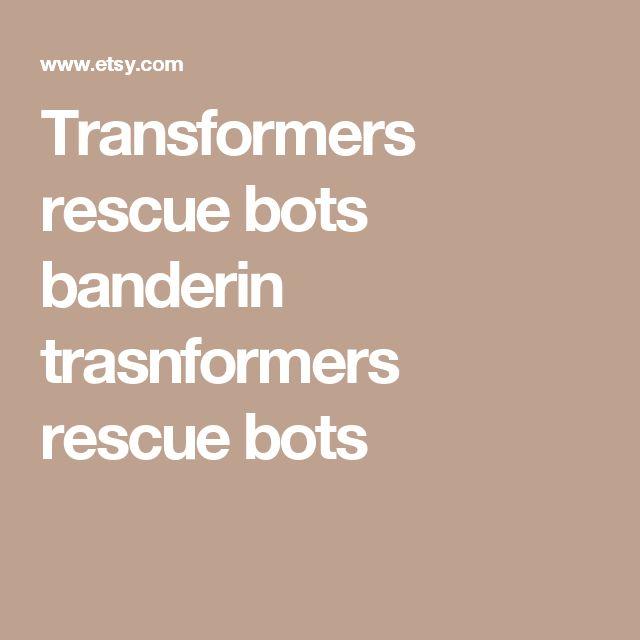 Transformers rescue bots banderin trasnformers rescue bots