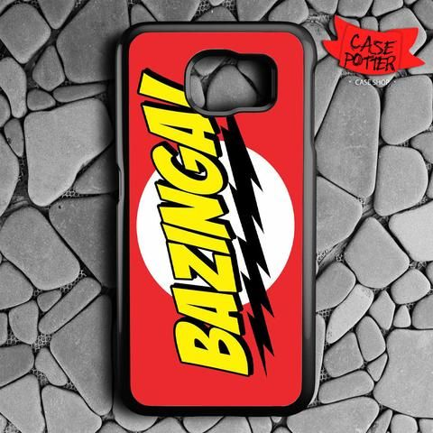 Red Yellow Bazinga Samsung Galaxy S6 Black Case