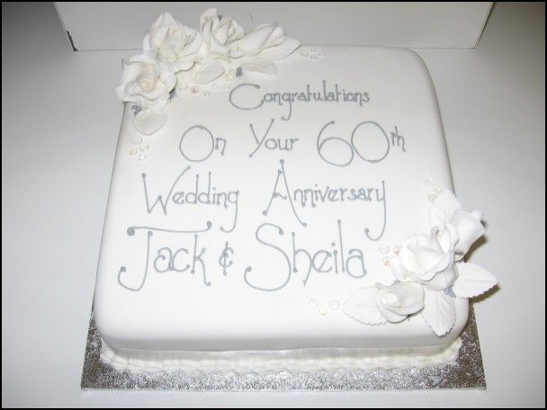 60th Wedding Anniversary Cake Pictures