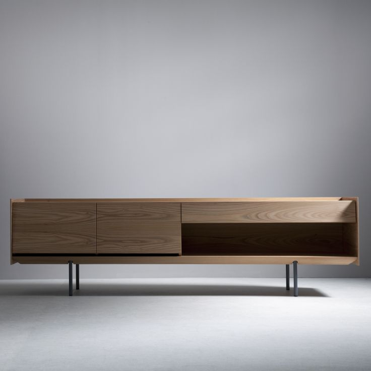 Sideboard 240 with doors, drawer and shelf - elm