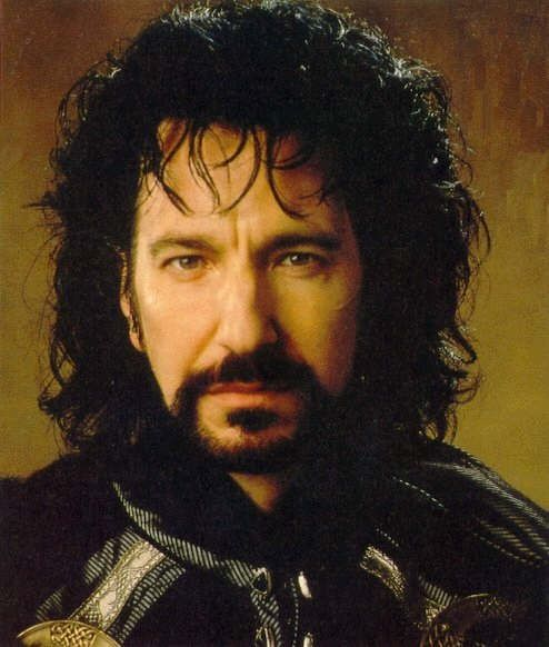 "George. The Sheriff of Nottingham.  Alan Rickman. ""Robin Hood, Prince of Thieves"".    A really good, villain!"