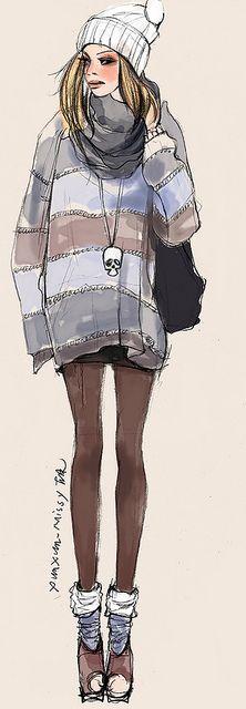 Xunxun Missy Fashion Illustrations:
