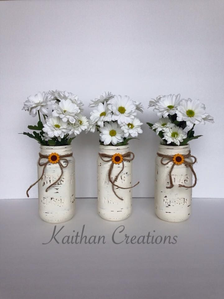 Painted Mason Jar by Kaithan Creations available in different sizes and colors. Visit my Facebook page to see more creations and place your order.  https://www.facebook.com/kaithancreations/photos/a.313009498898804.1073741841.216663808533374/347340558799031/?type=3