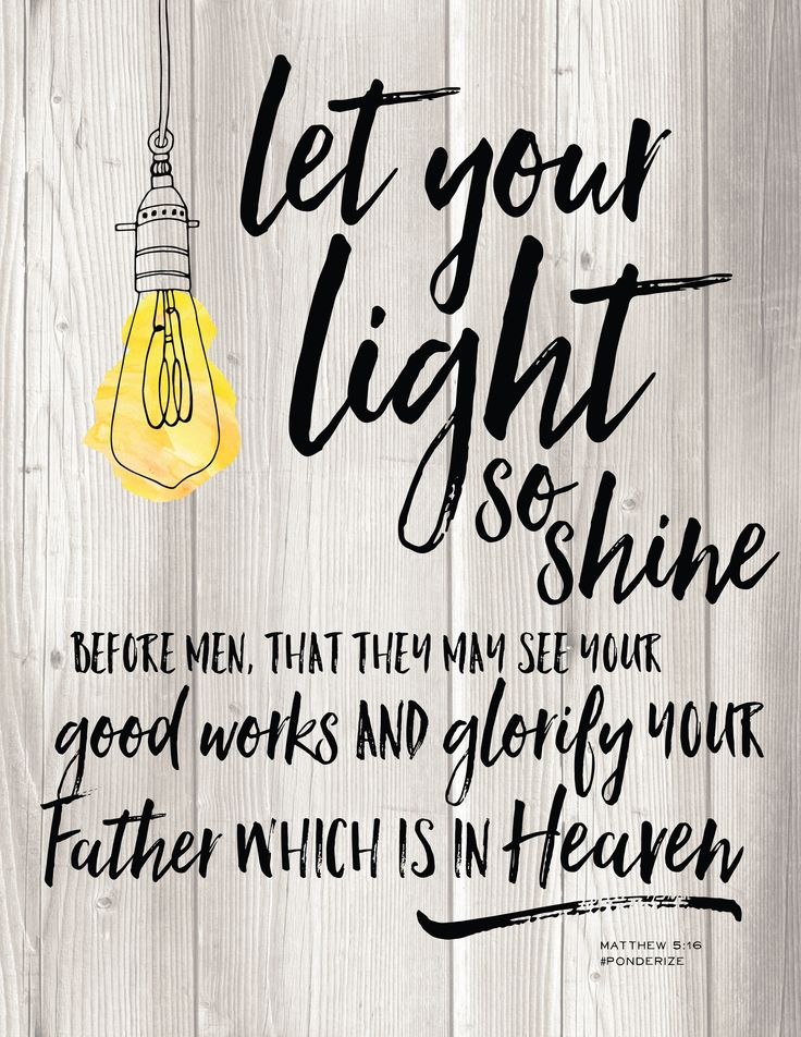 Ponderize this... Let your Light so Shine free printable from WhipperBerry #ponderize #ldsconf