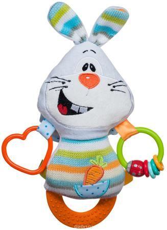 """BabyOno Развивающая игрушка Кролик  — 1186р. ------------------- Развивающая игрушка BabyOno """"Кролик"""" порадует вашего кроху. Забавный мягкий кролик не только развлекает, но и развивает. В ушах находятся шуршащие элементы, на теле - разноцветные ленточки. Нажав на голову кролика, малыш услышит забавный писк. Внизу игрушки находится прорезыватель. Изделие легко можно прикрепить к кроватке, коляске, автокреслу или игровой дуге малыша при помощи удобной застежки-липучки. Развивающая игрушка…"""