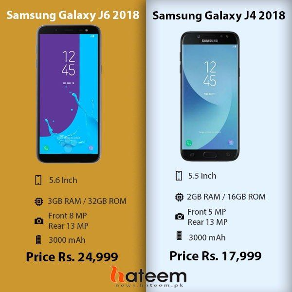 Samsung J6 and J4 2018 is launched in Pakistan  Check out specs and