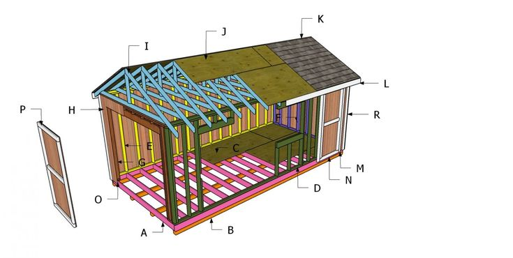 Pin on 10x20 shed plans