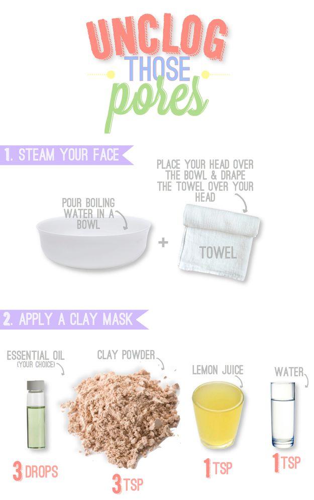Tips To Unclog Pores!