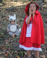 Red Riding Hood and Big Bad Wolf Homemade Costume