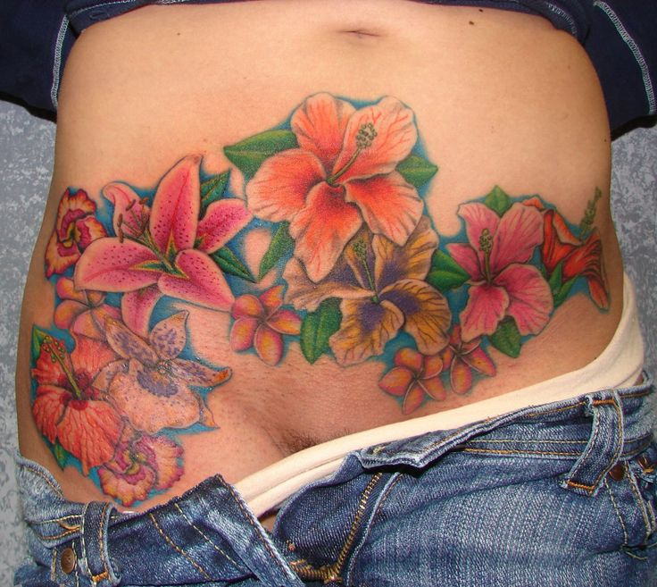 Tattoo Cover Stretch Marks On Stomach - Tattoo Drawing Ideas Awesome Flower Tattoos On Stomach | Tattoo Drawing Ideas