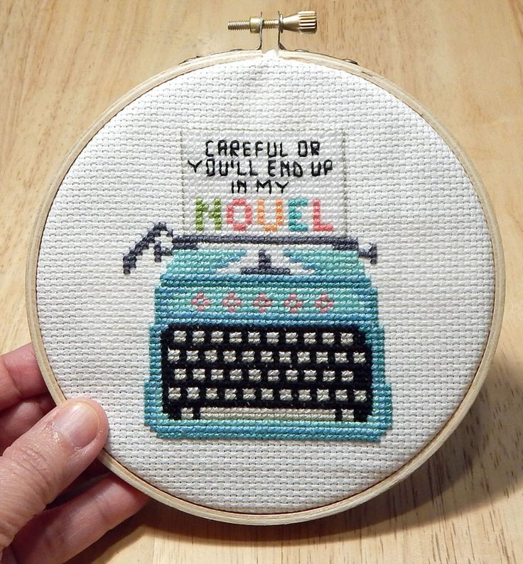 Vintage Typewriter Mini Cross Stitch Pattern is an easy to stitch project.