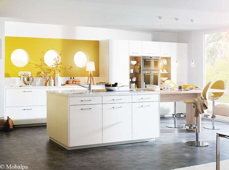 Les Meilleures Idées De La Catégorie Murs De La Cuisine Jaune - Carrelage mural cuisine jaune pour idees de deco de cuisine