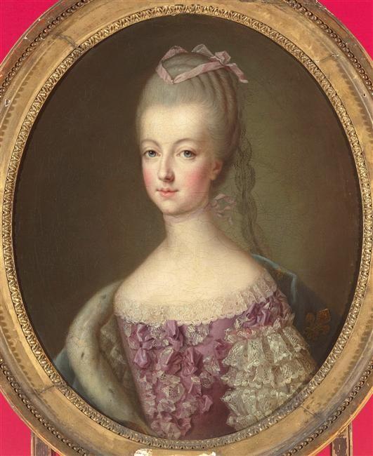 Marie-Antoinette de Lorraine-Habsbourg, archiduchesse d'Autriche, reine de France (1755-1793)  représentée vers 1770, alors Dauphine de France date: vers 1770 (la figure reprise de son portrait peint au pastel exécuté à Vienne en 1769)  Ducreux Joseph (1735-1802)  Nous contacter au préalable pour la publicité. (C) RMN-Grand Palais (Château de Versailles) / Gérard Blot  huile sur toile  Hauteur :  0.650 m.  Longueur :  0.540 m.  Versailles, châteaux de Versailles et de Trianon