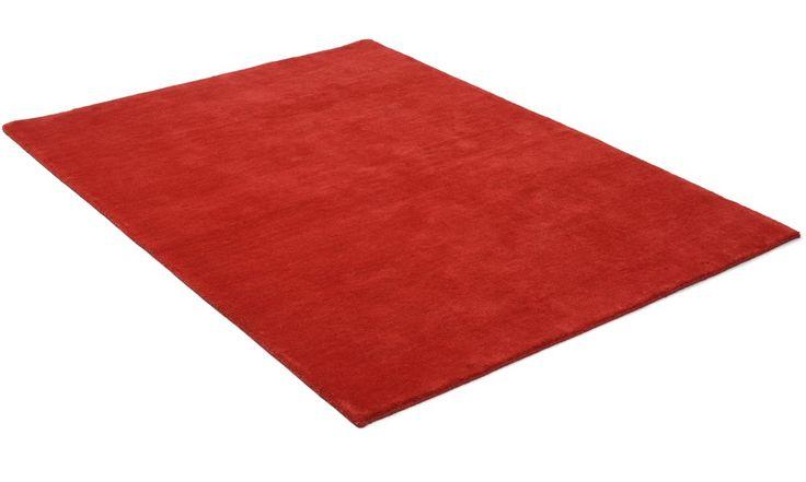 Nepal röd - handknuten matta