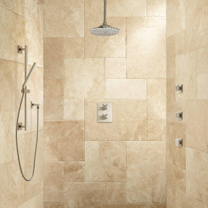 Deniau Thermostatic Shower System   Hand Shower And 3 Jets